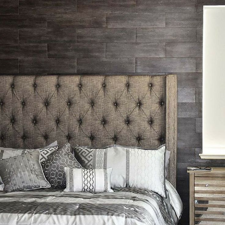@all_my_joys nailed this urban chic bedroom by mixing neutrals and using the Sorinella upholstered bed as her backdrop.