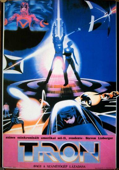 original vintage movie poster hungary 1970s sic fi usa tron