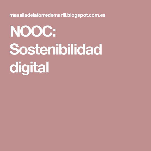 NOOC: Sostenibilidad digital