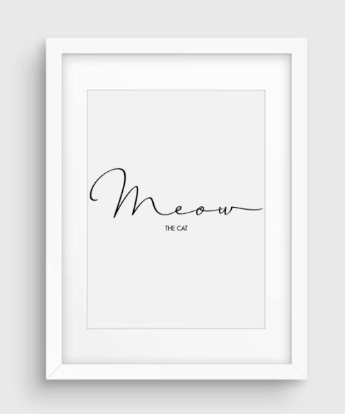 Minimal Fake Cat Quote Poster, Downloadable Black & White... (via Bloglovin.com )