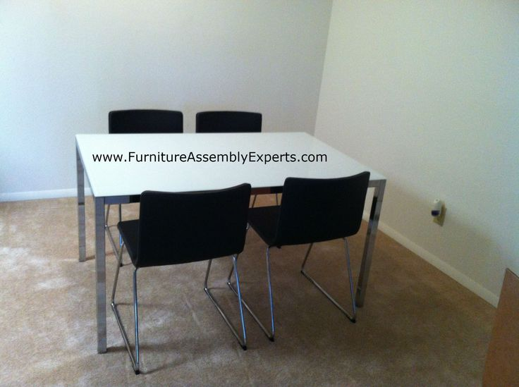 Ikea Dining Table With Glass Top And Leather Chairs Assembled In Sterling  Va By Furniture Assembly