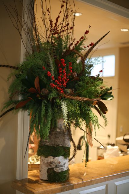 Evergreen Arrangements By Holly Chapple The Potting Shed