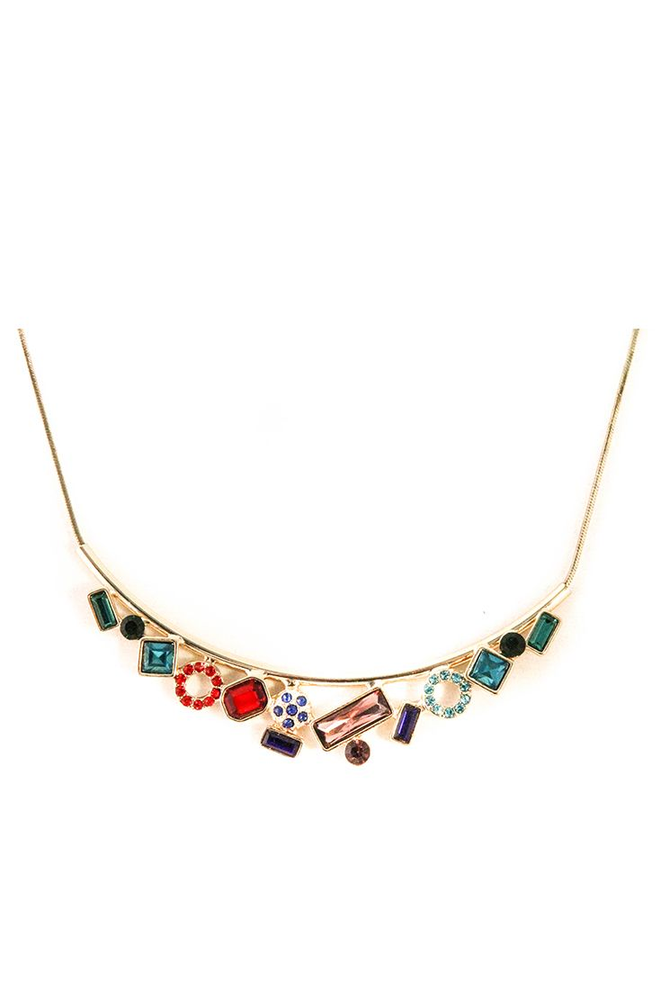 Simply Inspired Rainbow Necklace | @AshleyMeganTO  https://www.ashleymegan.com/product/simply-inspired-rainbow-gold-tone/ via @AshleyMeganTO