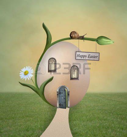 Easter egg house photo