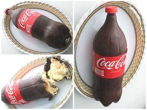 Recette  gâteau en forme de bouteille de Coca-Cola.