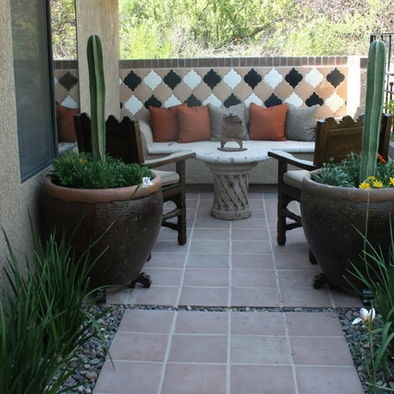mexican fence post cactus design pictures remodel decor and ideas - Matchstick Tile Garden Decoration