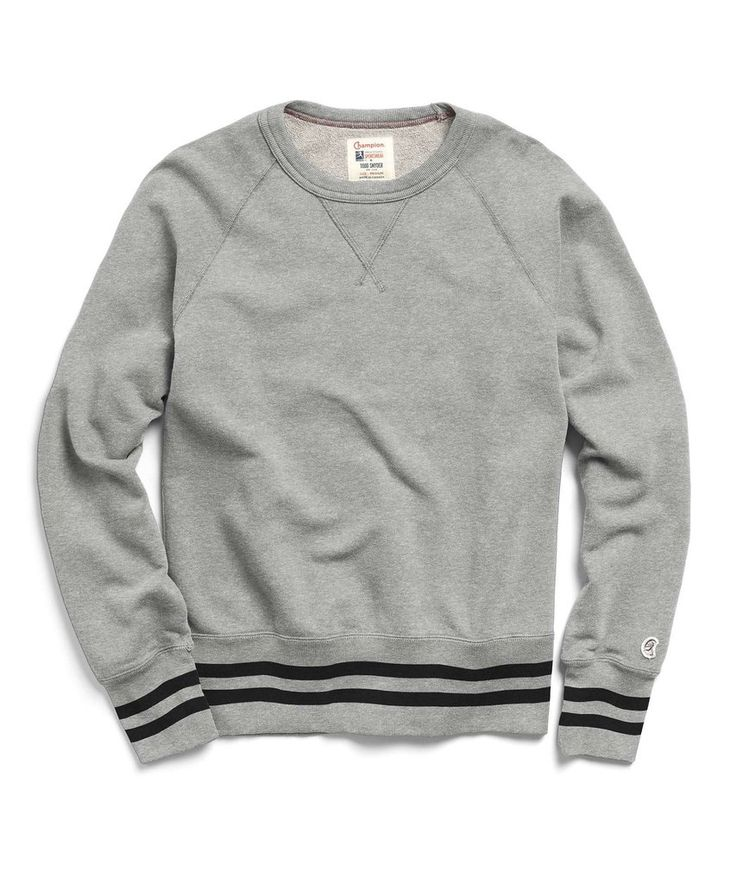 Mr. Porter Collaboration Crewneck Sweatshirt in Grey Mix by Todd Snyder
