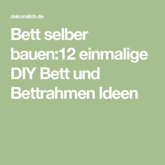 25+ beste ideeën over Bett Selber Bauen Anleitung op Pinterest - hangebett led beleuchtung