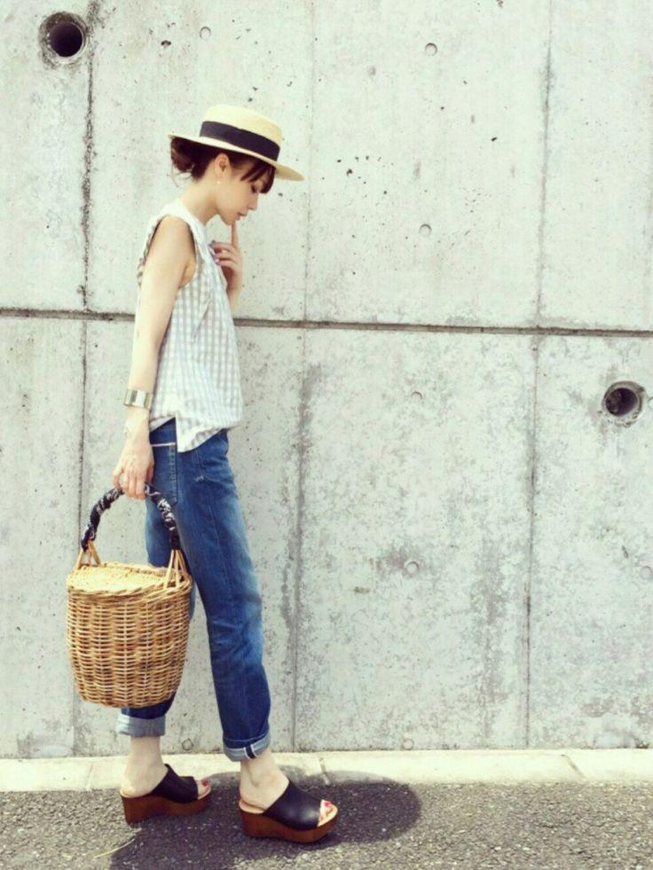 ari☆さんの「雑材カンカン帽(FREE'S MART)」を使ったコーディネート