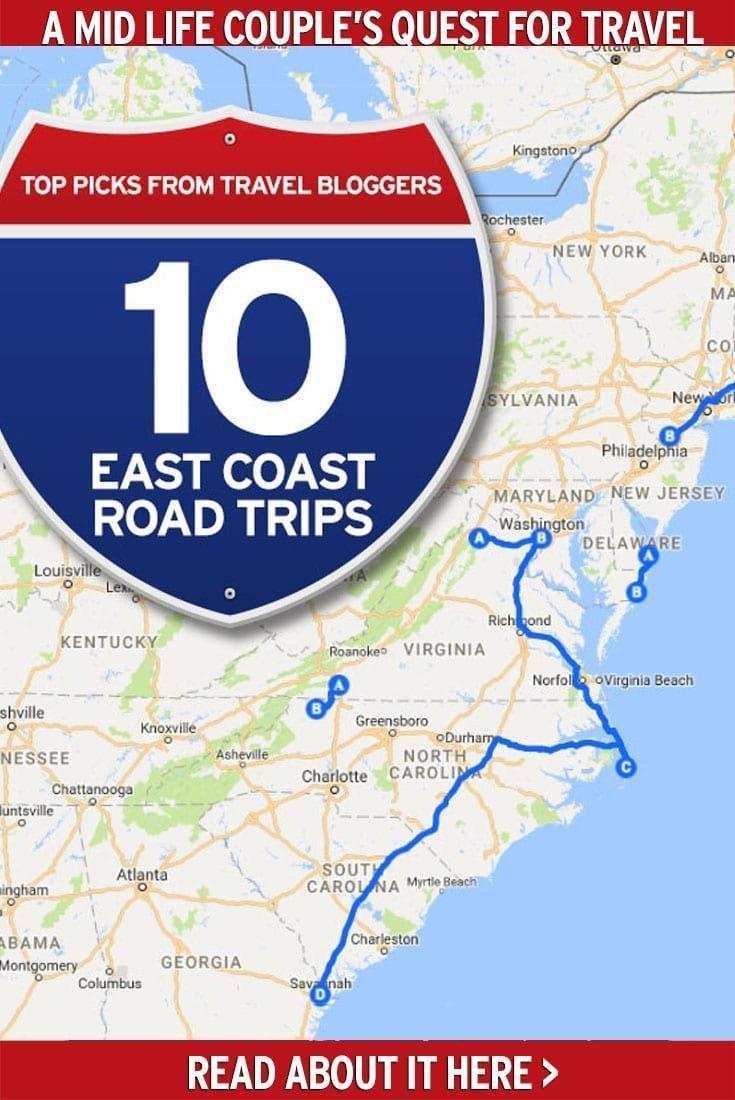 10 Fabulous East Coast Road Trips You Need To Take East Coast Road Trip Road Trip Fun Road Trip