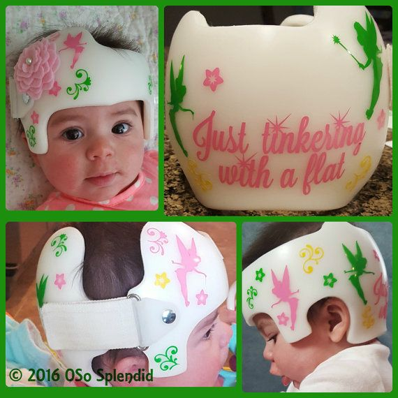 Personalized Cranial Band Tinkerbell Decals Just by OSoSplendid