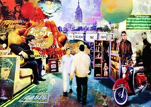 2556 Oasis Canvas Album Collage Music Wall Art Print