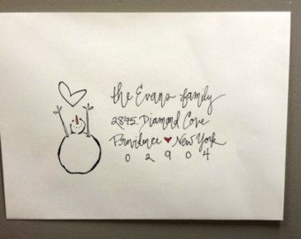 Handwritten Holiday Envelope Addressing by HoneybeeHandwriting