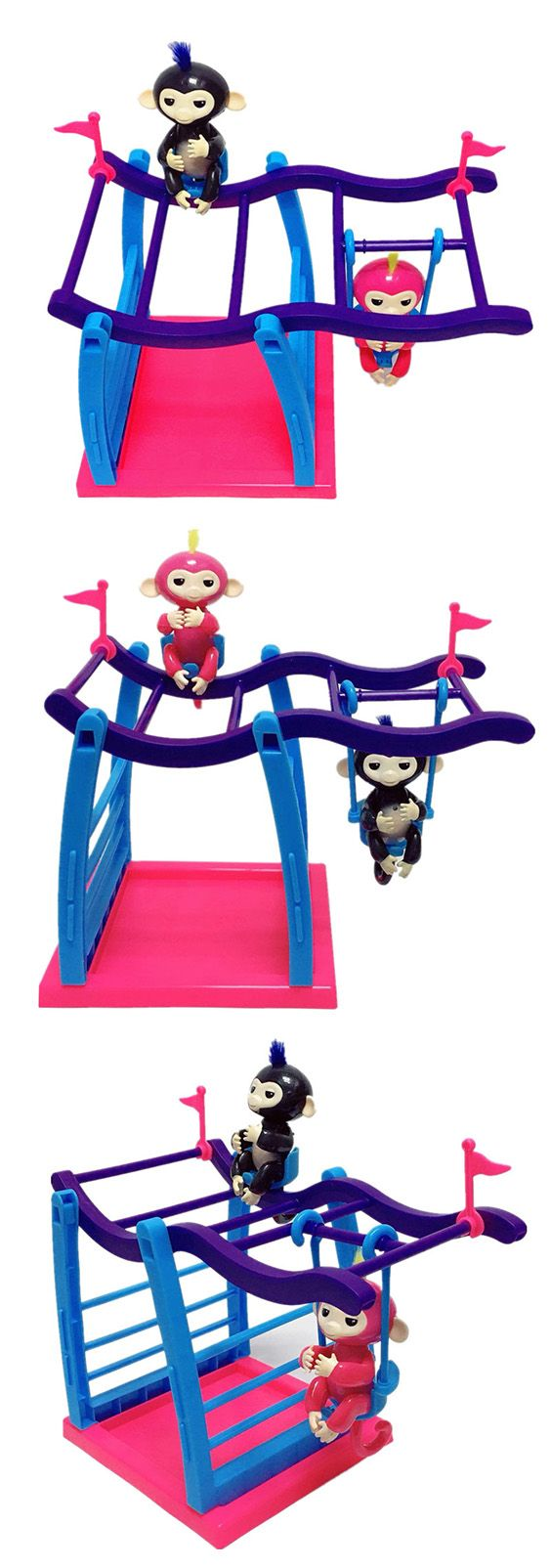 Fingerlings Movement Support Climbing Stand Swing Playset