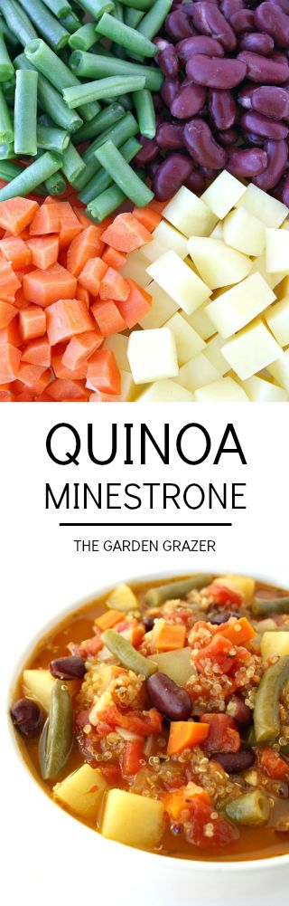 Minestrone with a twist! Swaps out pasta for quinoa for a nutrition boost! (vegan, gluten-free)