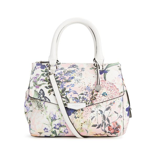 Fiorelli Women's Mia Grab Bag - Summer Floral (25.690 HUF) ❤ liked on Polyvore featuring bags, handbags, fiorelli bags, white handbags, summer purses, floral print bag and flower print purse