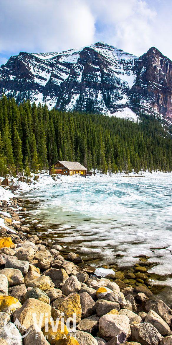 Lake Louise spring thaw.
