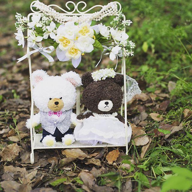 ウェルカムベアーは母親の手作り衣装で* #ウェディングアイテム#ウェルカムベア#ウェルカムドール#ハンドメイド#結婚式#ウェディング#プレ花嫁卒業#プレ花嫁 #プレ花嫁サポート#結婚式準備