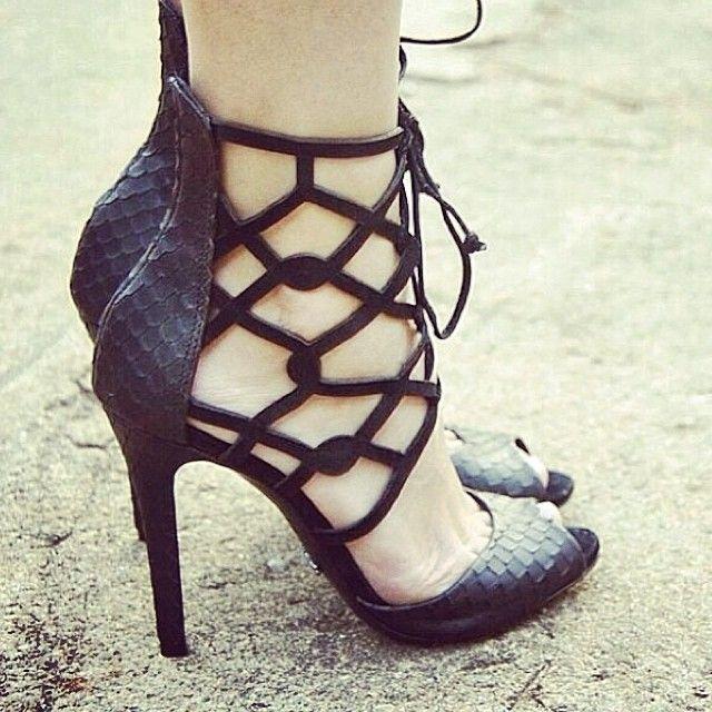 Black Stiletto Heels Designer Women's
