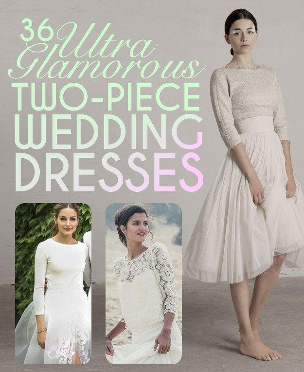 36 Ultra Glamorous Two-Piece Wedding Dresses via @buzzfeed