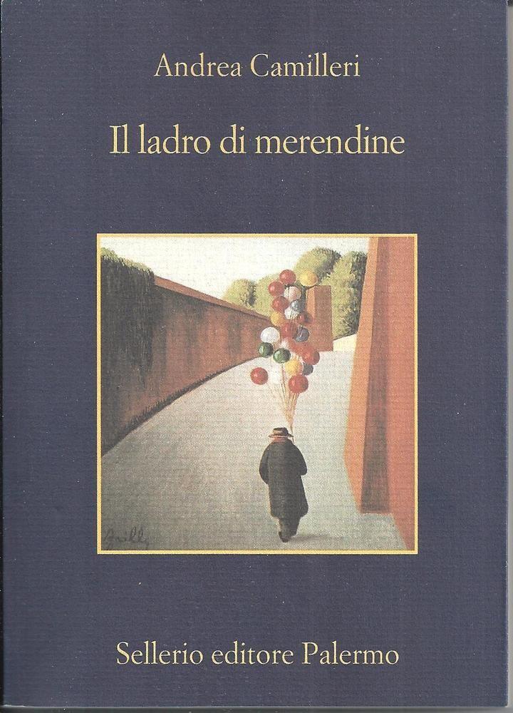 Libro Camilleri IL LADRO DI MERENDINE romanzo giallo poliziesco Montalbano