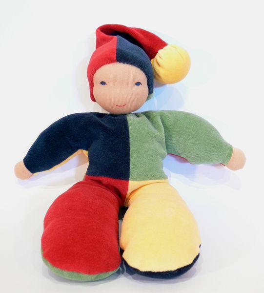 Schmusekasper -  Puppe aus Bio-Nicki von Holz & Stoff Werkstatt auf DaWanda.com