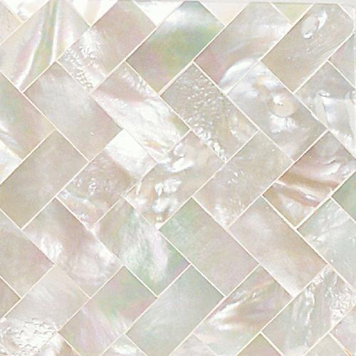 Daltile - Mother of Pearl in a herringbone pattern - Wall tile