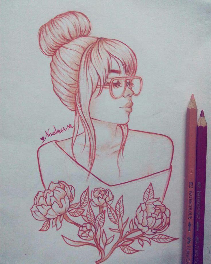 Croquis rapide #draw #art #girl_drawing #colors #red #quicks   – ideen fürs zeichnen