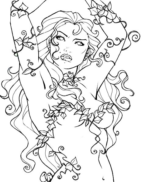 Poison Ivy By Yaoi Beardeviantart On DeviantART Adult Coloring PagesColoring