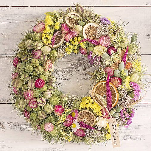 Summer juicy wreath, diy season decor