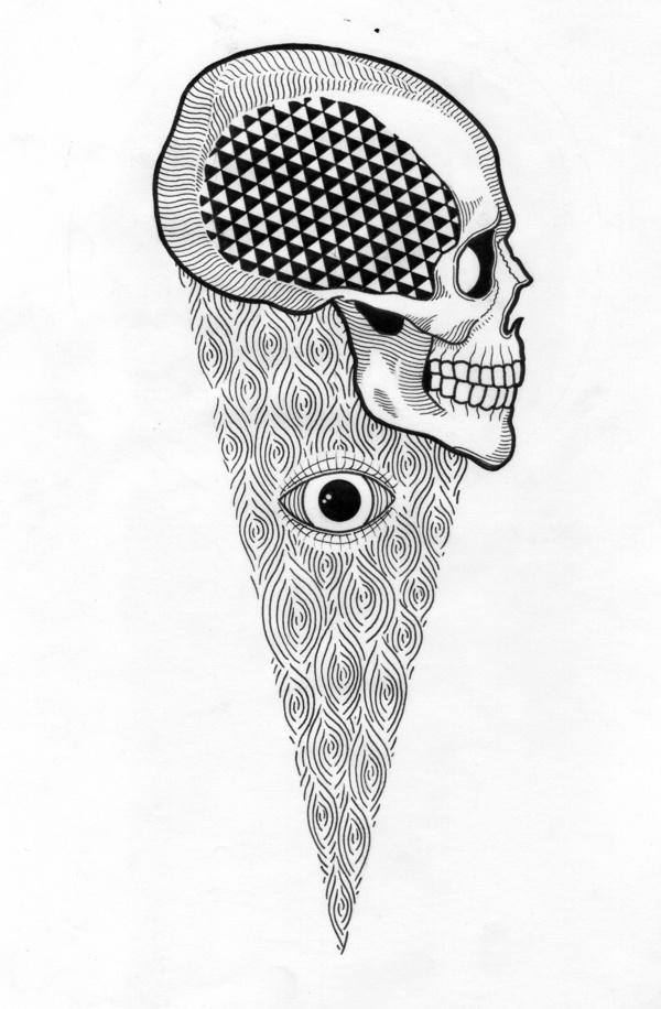 BLACK AND WHITE DRAWINGS http://www.creativeboysclub.com/tags/we-love-skulls