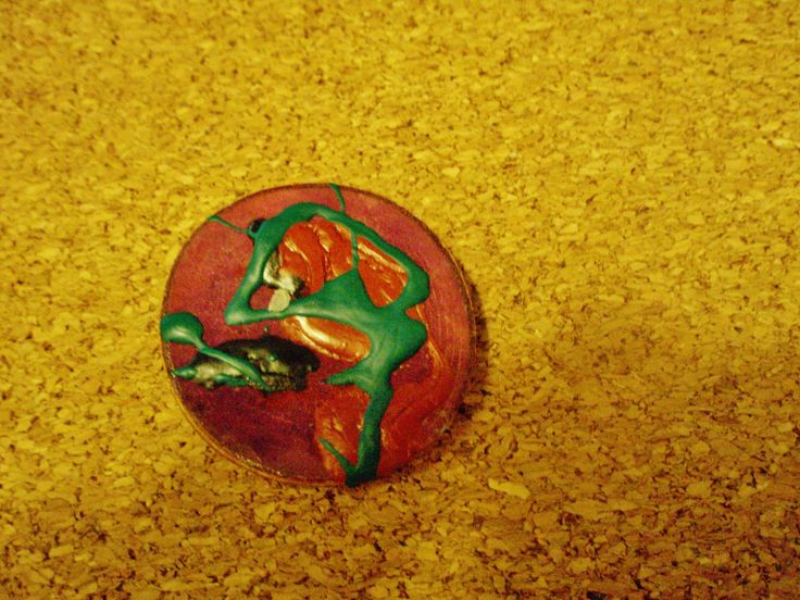 the dancer/ wooden colored pin