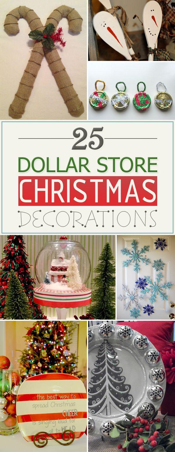 25 Amazing DIY Dollar Store Christmas Decorations ...