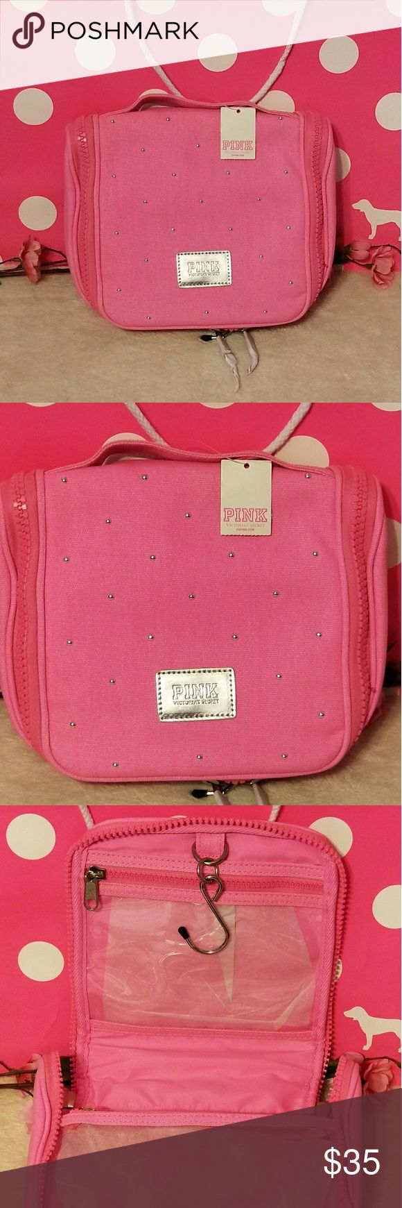 Victoria's Secret PINK Cosmetic Case Hanging Brand new
