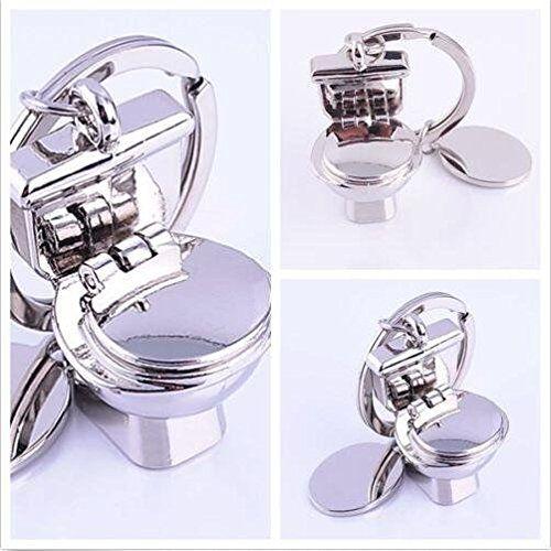 Fashion Key ChainToilet Bowl Model Keychain Creative Fashion Cool Gift