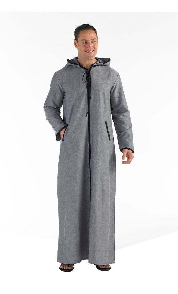 Chambray Hooded Thobe/ Dishdasha Juppa Moroccan Thobe