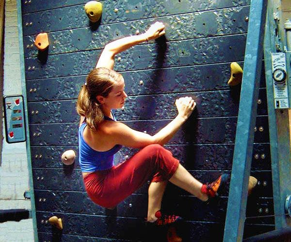 Experience a grueling workout of rock climbing without the risk of plummeting to your death by exercising with this specialized treadmill machine. It comes littered with strategically placed hand and foot holds so you can practice your climbing skills without any risk.