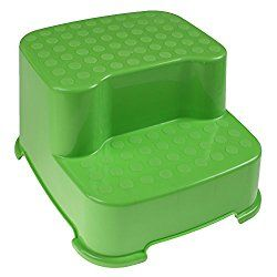 1 Pcs 2-step Stool Plastic Transitions Step Stool Non-Slip Step Treads for Kids (Green)