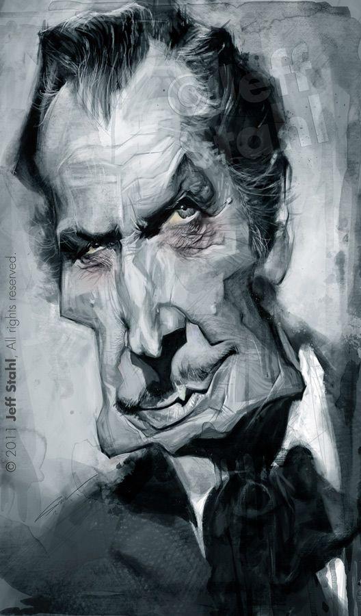 Caricatura de Vincent Price.