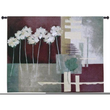 FineArtTapestries 1893-WH Contemporary Crimson I Wall Tapestry, Multicolor