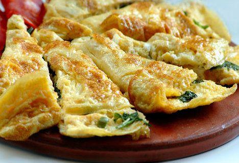Vaječná omeleta se špenátem