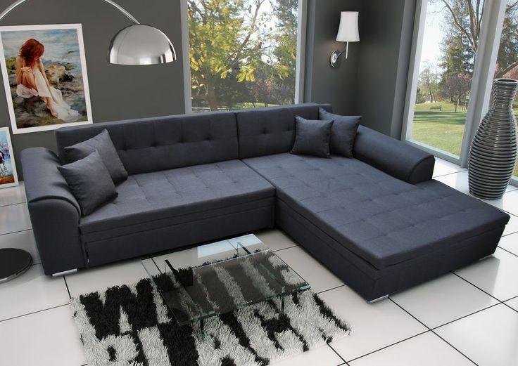 Couch Garnitur Ecksofa Sofagarnitur SORENTO Wohnlandschaft Schlaffunktion