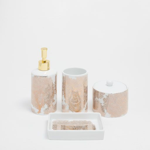 Image of the product GOLDEN CORAL CERAMIC BATHROOM SET