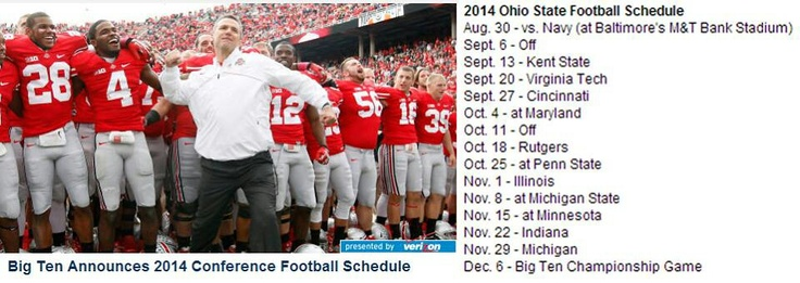 2014 Ohio State football schedule.