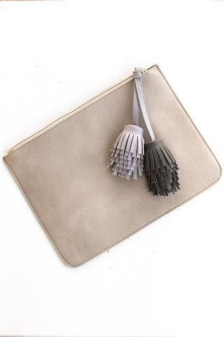 Dynamic Duo Tassel Clutch - Fog - Page 6 Boutique