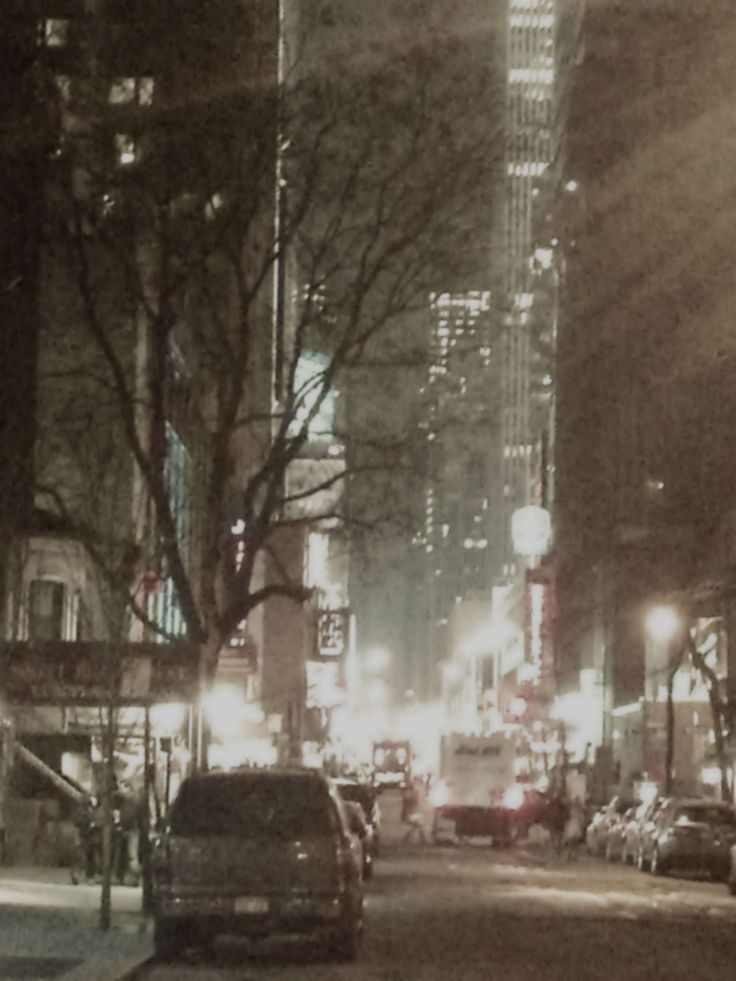 Blizzard, 42 street, outside Hotell Belvedere,