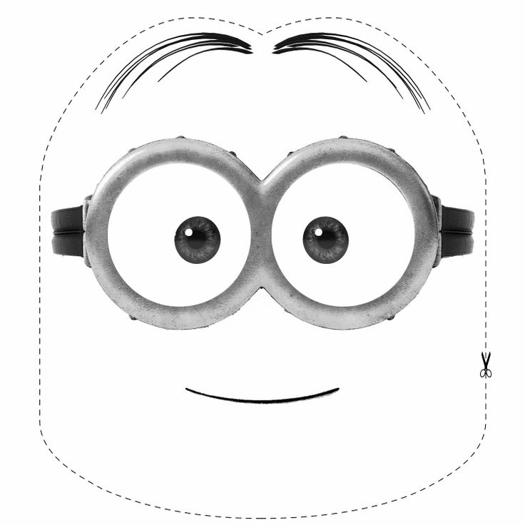 49 best minions images on pinterest for Minion mask template