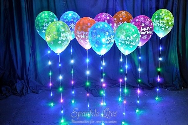Pretty Coloured Birthday Balloon Sparkle Walkers.