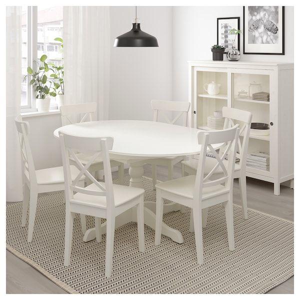Ingatorp Ausziehtisch Weiß Ikea Deutschland