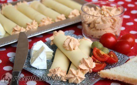 Körözöttes sajttekercs recept fotóval
